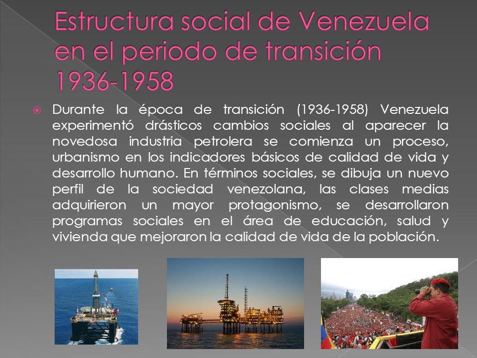 Estructura social de Venezuela en el periodo de transición 1936-1958