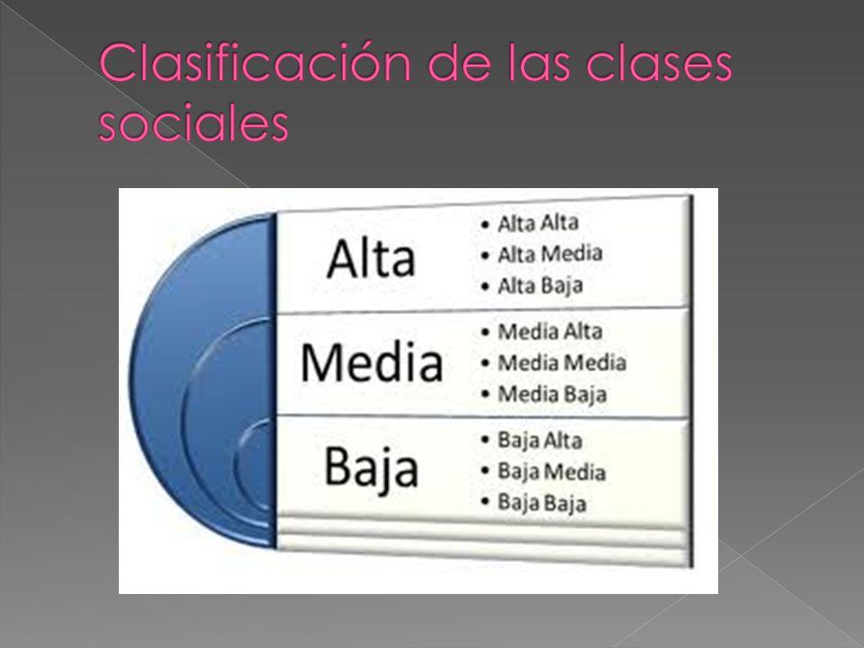 Clasificación de las clases sociales