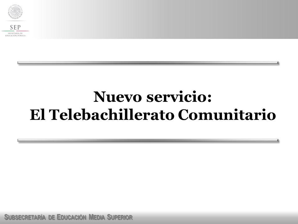 El Telebachillerato Comunitario