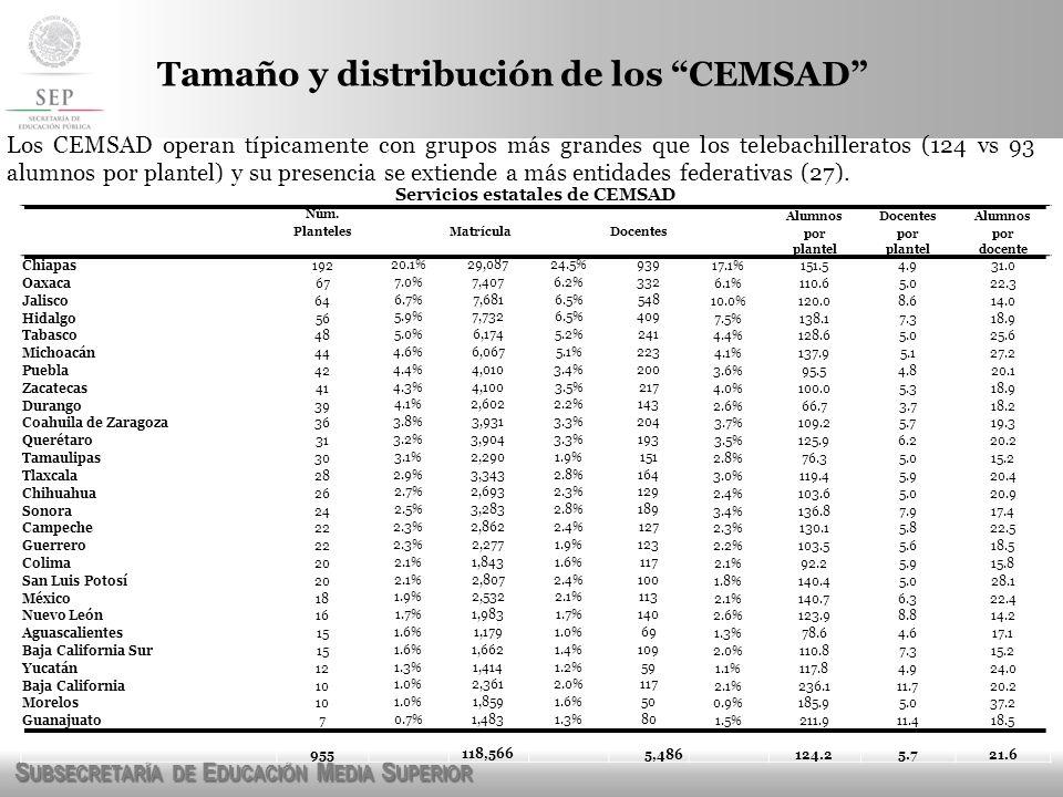 Servicios estatales de CEMSAD