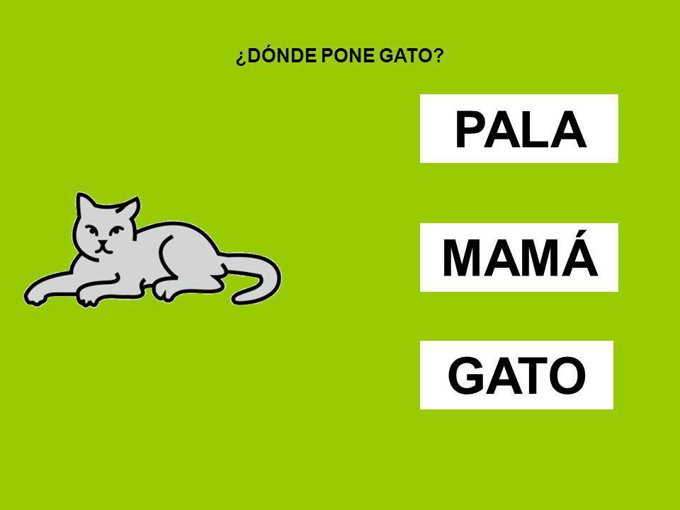 ¿DÓNDE PONE GATO PALA MAMÁ GATO