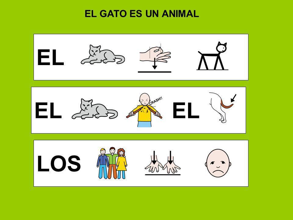 EL GATO ES UN ANIMAL EL EL EL LOS
