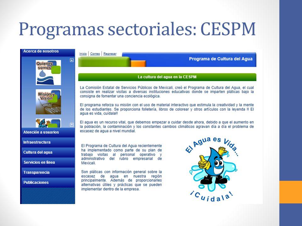 Programas sectoriales: CESPM