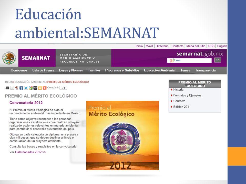 Educación ambiental:SEMARNAT