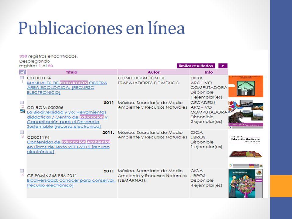 Publicaciones en línea