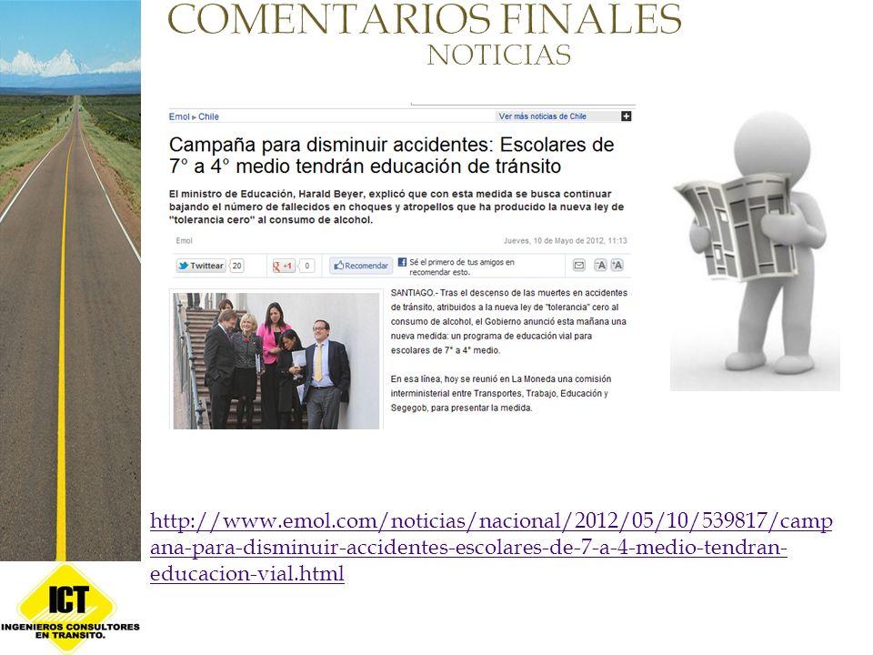 COMENTARIOS FINALES NOTICIAS
