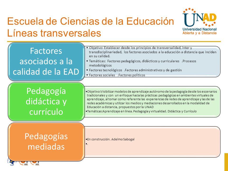 Escuela de Ciencias de la Educación Líneas transversales