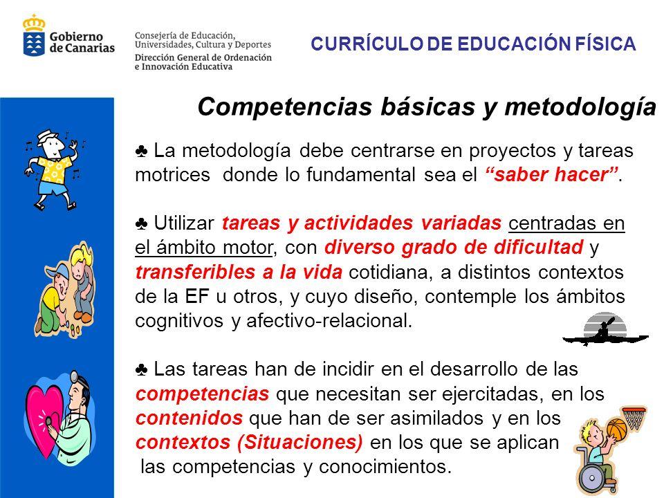 CURRÍCULO DE EDUCACIÓN FÍSICA Competencias básicas y metodología