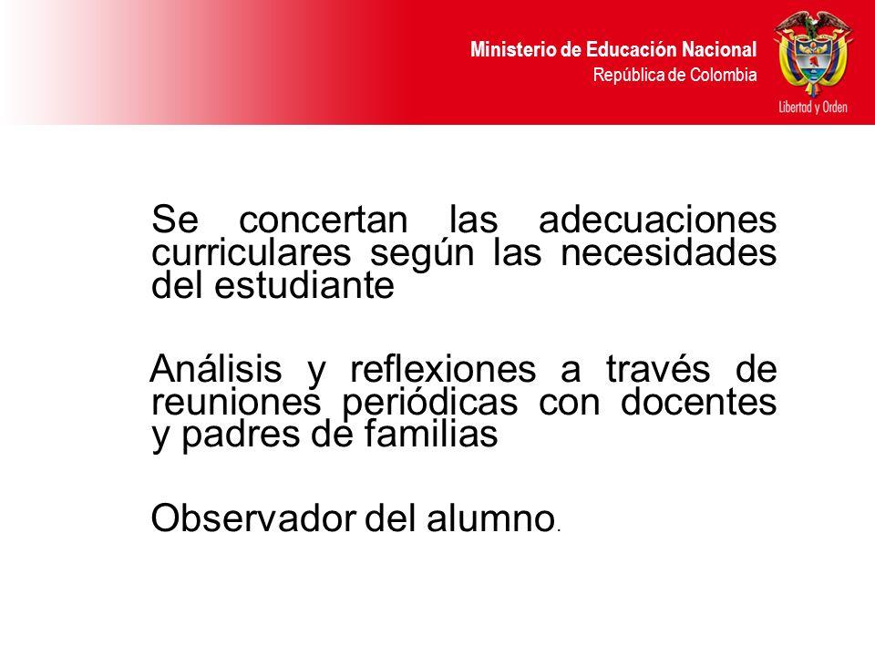 Se concertan las adecuaciones curriculares según las necesidades del estudiante