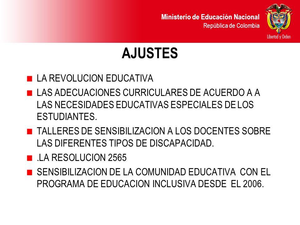 AJUSTES LA REVOLUCION EDUCATIVA