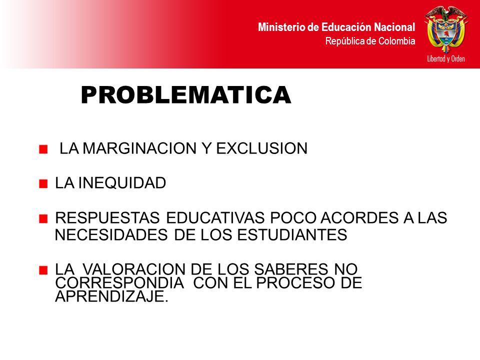 PROBLEMATICA LA MARGINACION Y EXCLUSION LA INEQUIDAD