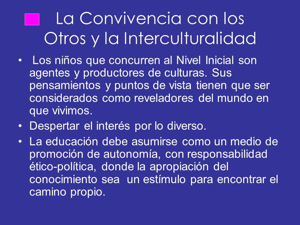 La Convivencia con los Otros y la Interculturalidad