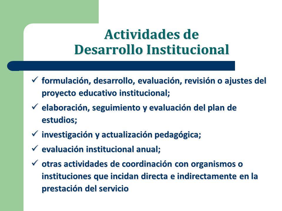 Actividades de Desarrollo Institucional