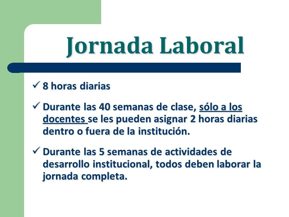 Jornada Laboral 8 horas diarias