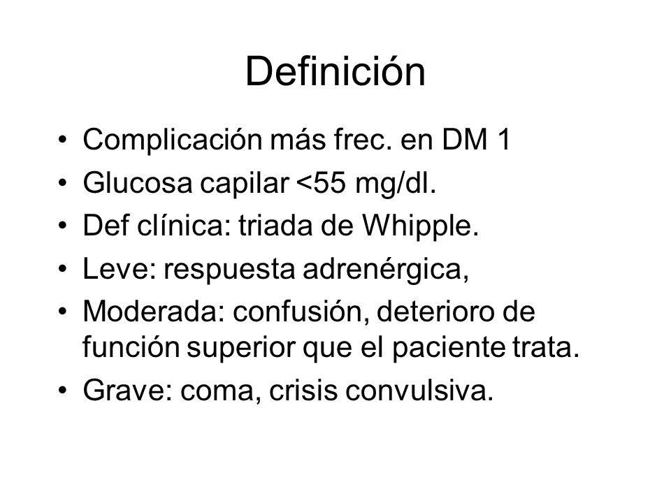 Definición Complicación más frec. en DM 1