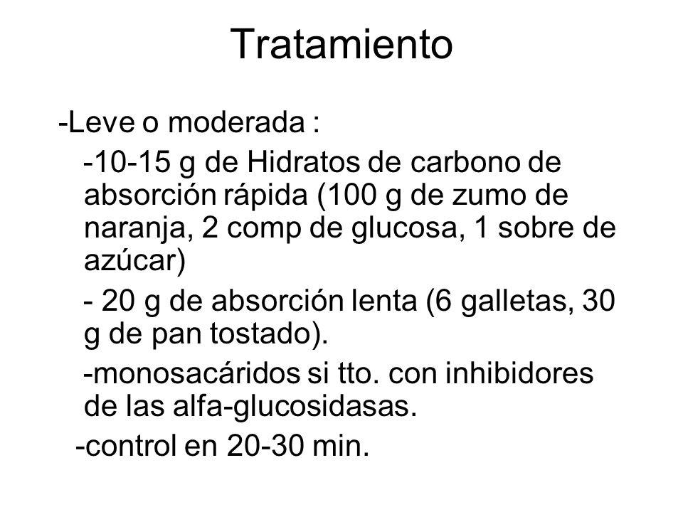 Tratamiento -Leve o moderada :