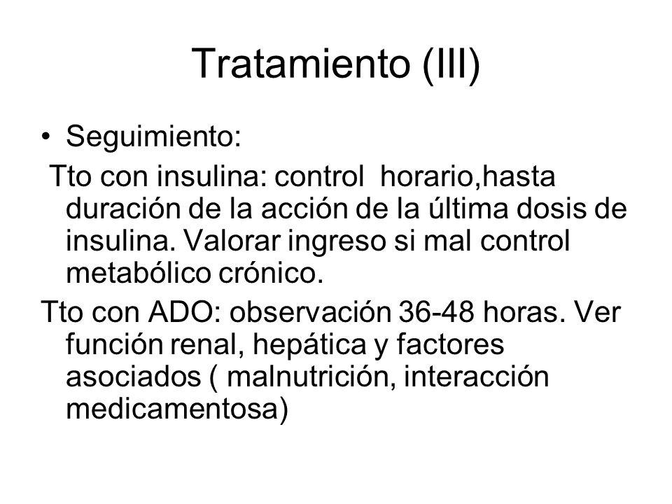 Tratamiento (III) Seguimiento: