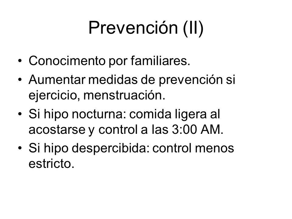 Prevención (II) Conocimento por familiares.