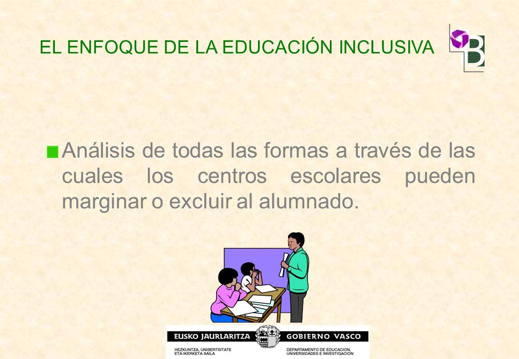 EL ENFOQUE DE LA EDUCACIÓN INCLUSIVA