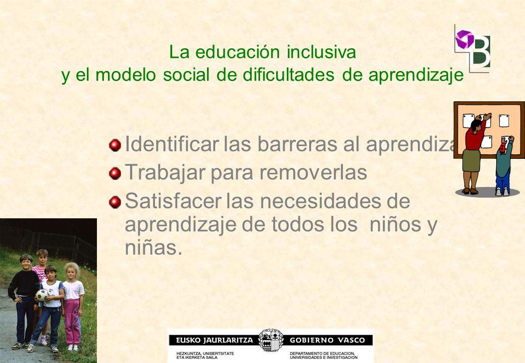 Identificar las barreras al aprendizaje Trabajar para removerlas