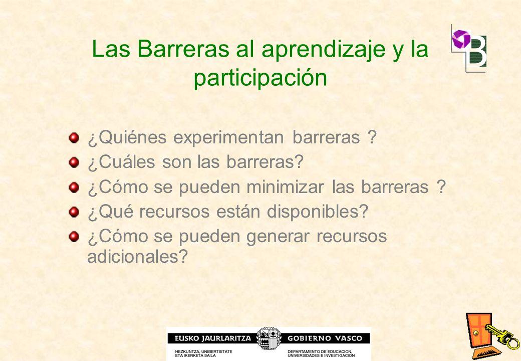Las Barreras al aprendizaje y la participación