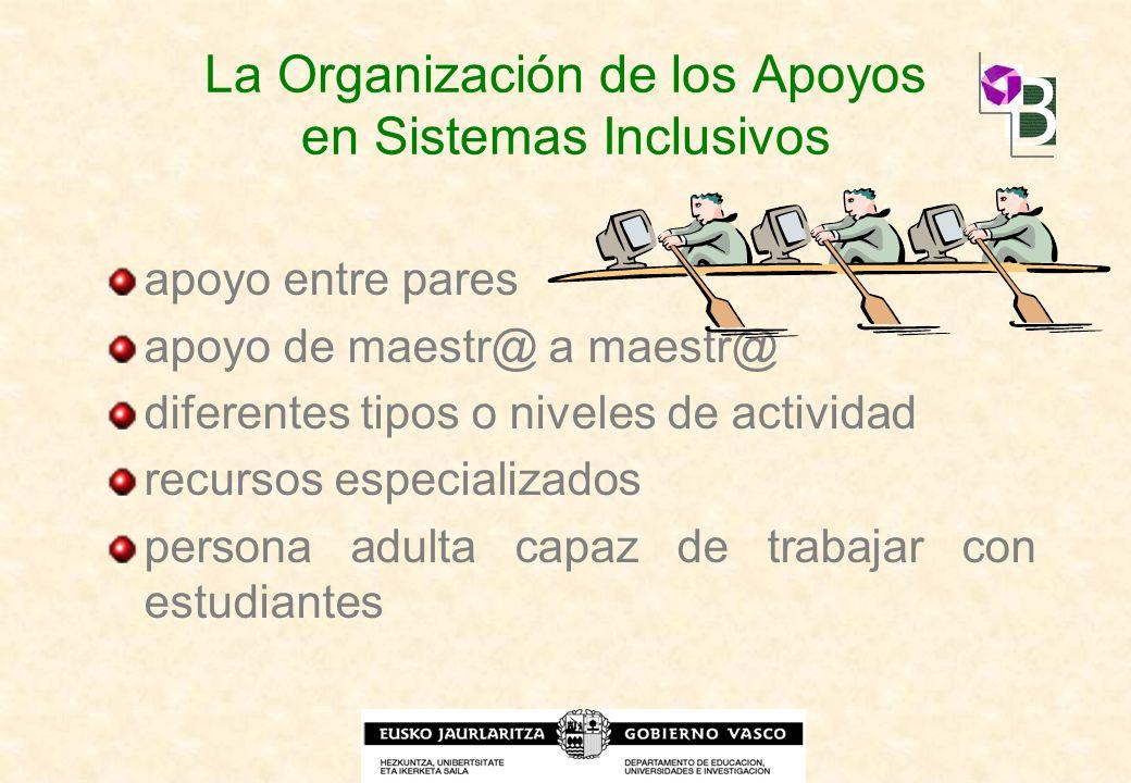 La Organización de los Apoyos en Sistemas Inclusivos