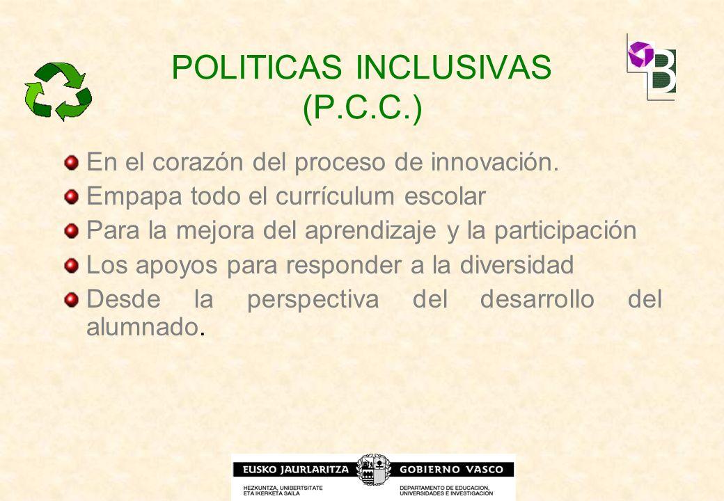POLITICAS INCLUSIVAS (P.C.C.)