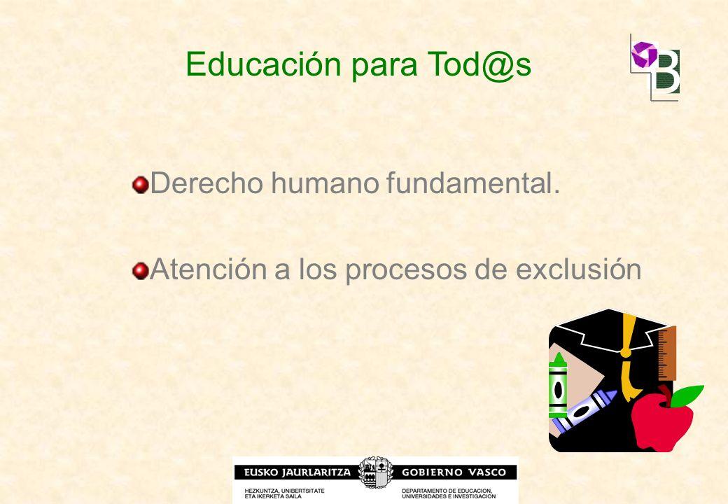 Educación para Tod@s Derecho humano fundamental.