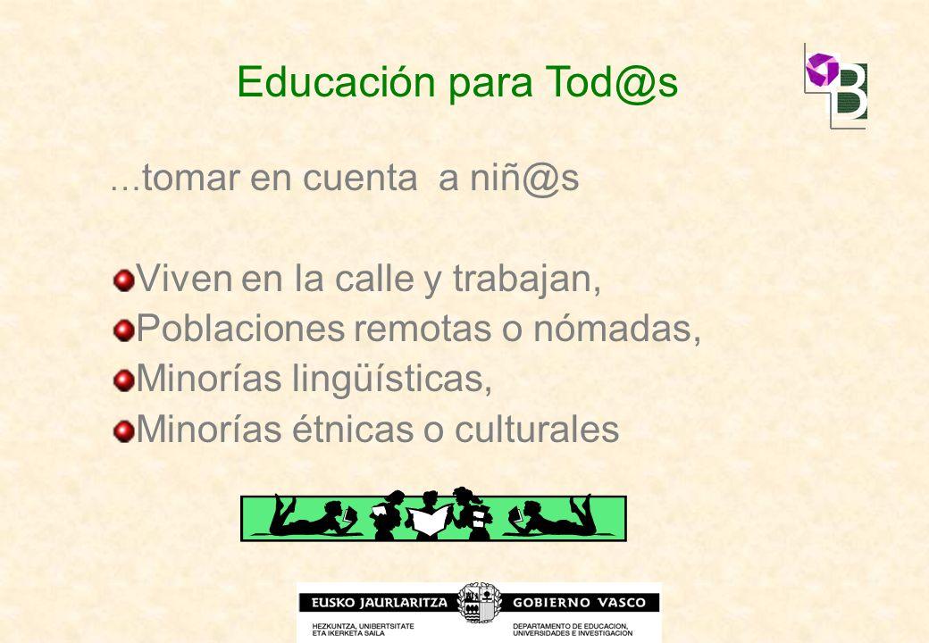Educación para Tod@s Viven en la calle y trabajan,