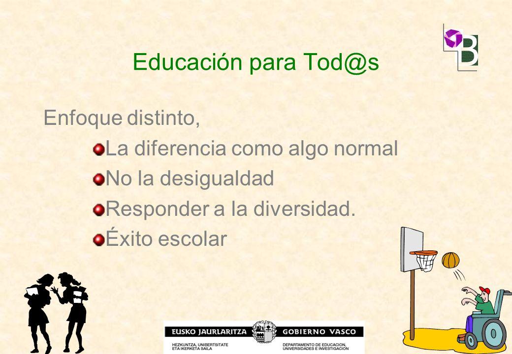 Educación para Tod@s Enfoque distinto, La diferencia como algo normal