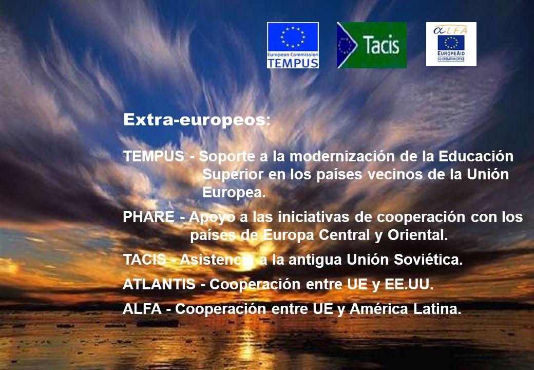 Extra-europeos: TEMPUS - Soporte a la modernización de la Educación