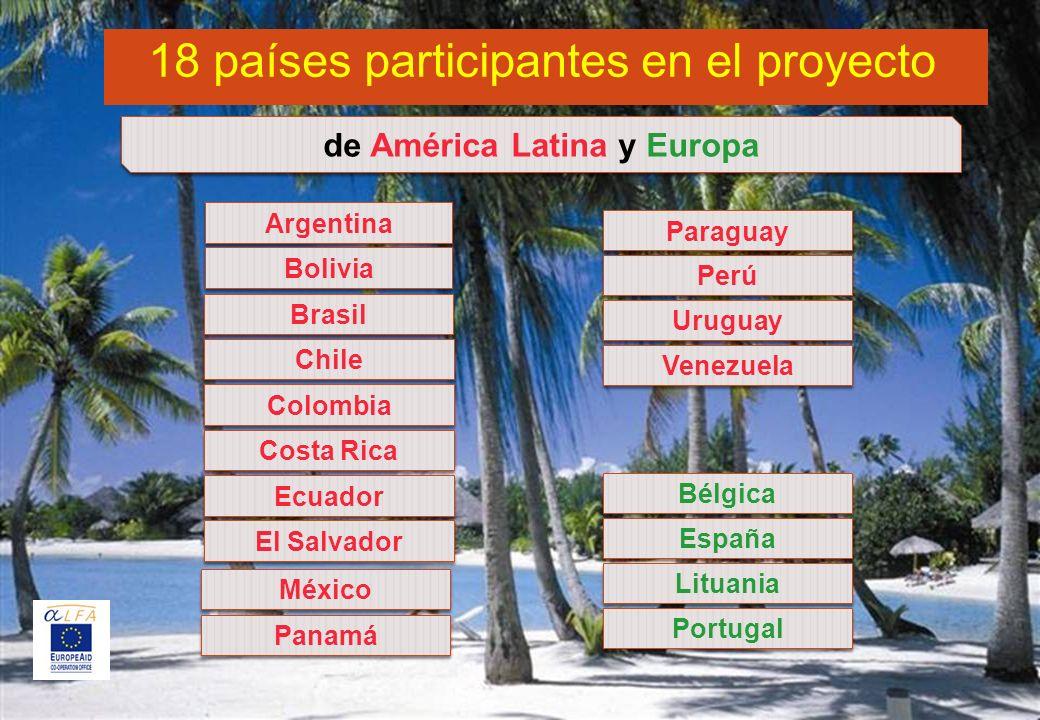 de América Latina y Europa
