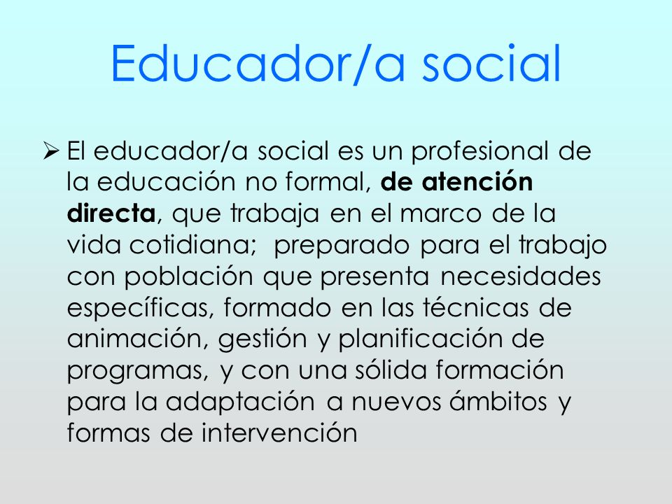 Educador/a social