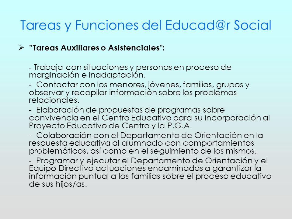 Tareas y Funciones del Educad@r Social