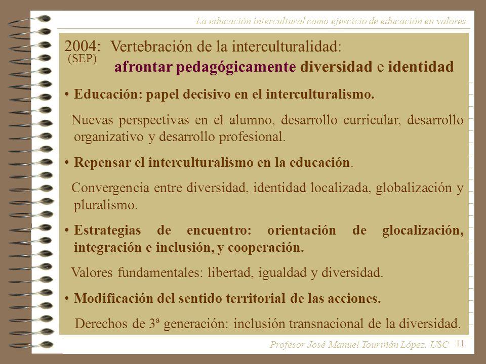 Vertebración de la interculturalidad: