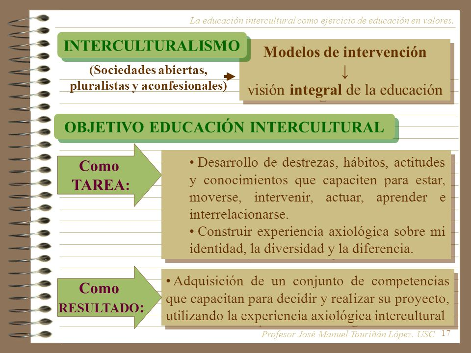 Modelos de intervención ↓ visión integral de la educación