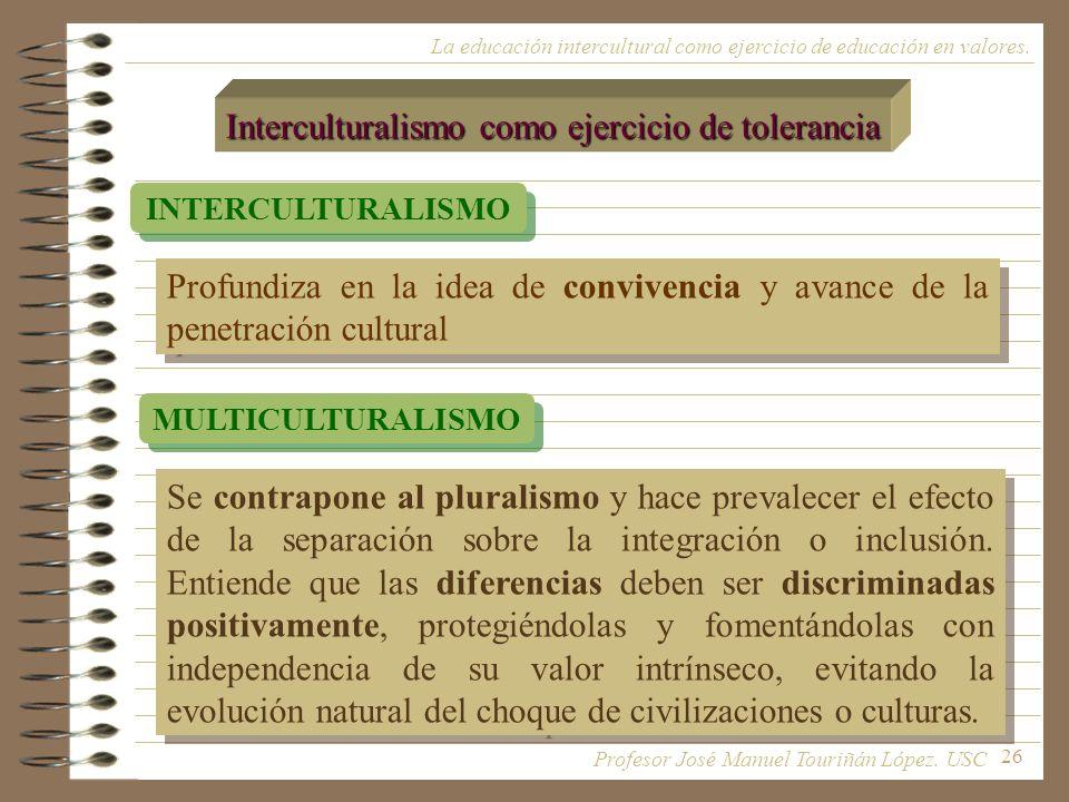 Interculturalismo como ejercicio de tolerancia