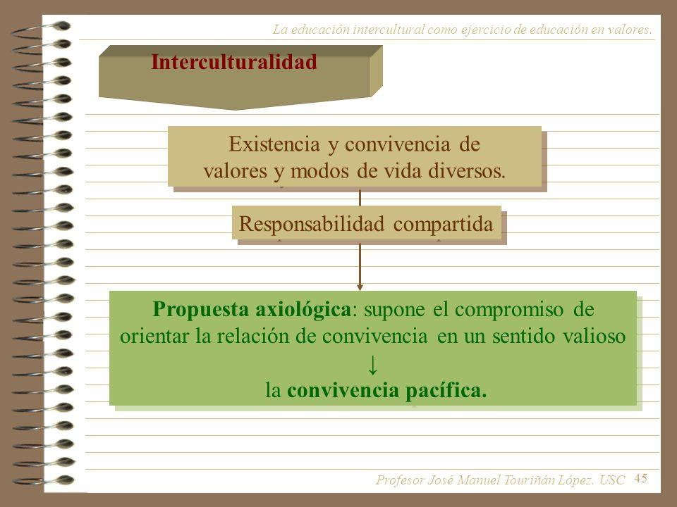 Existencia y convivencia de valores y modos de vida diversos.