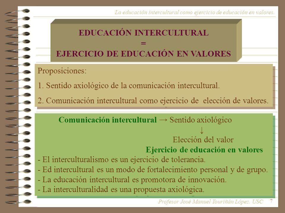 EDUCACIÓN INTERCULTURAL EJERCICIO DE EDUCACIÓN EN VALORES
