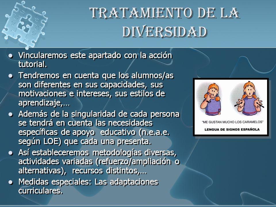 TRATAMIENTO DE LA DIVERSIDAD