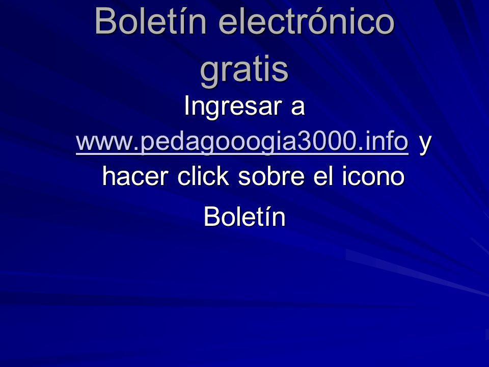 Boletín electrónico gratis