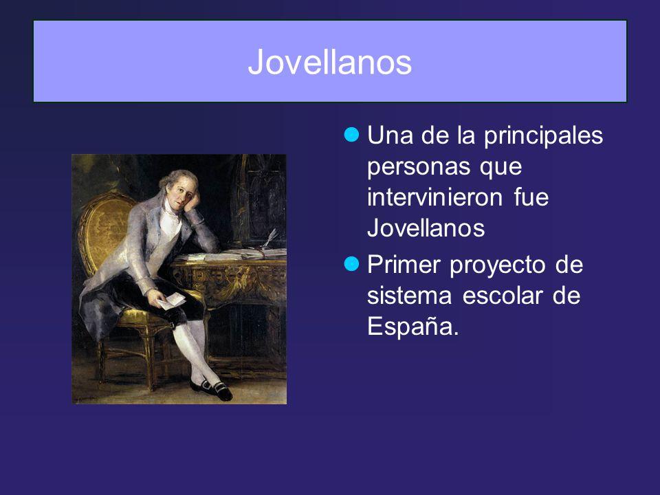 Jovellanos Una de la principales personas que intervinieron fue Jovellanos.