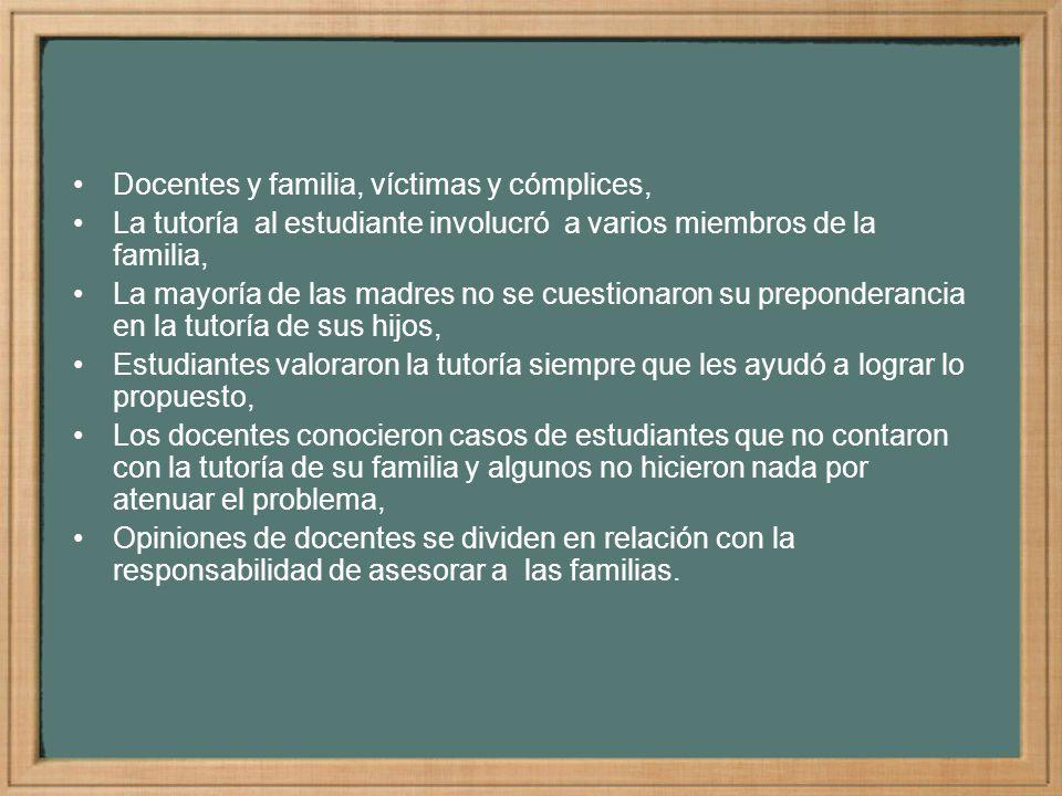 Docentes y familia, víctimas y cómplices,