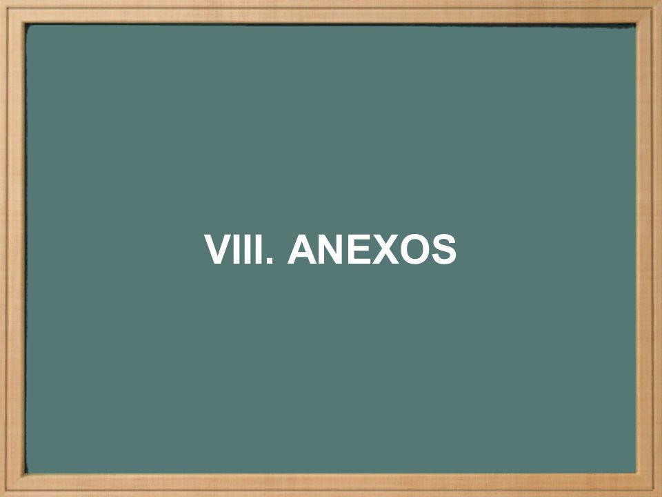 VIII. ANEXOS