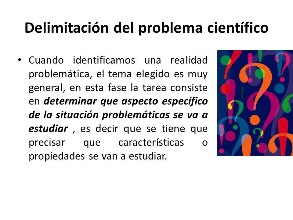 Delimitación del problema científico