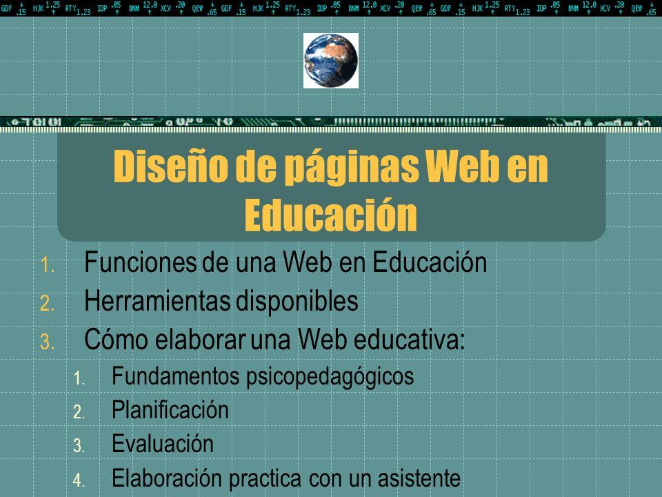 Diseño de páginas Web en Educación