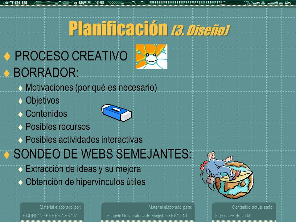 Planificación (3. Diseño)