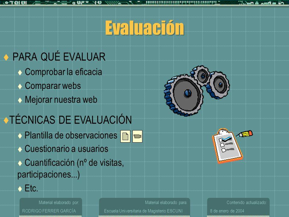 Evaluación PARA QUÉ EVALUAR TÉCNICAS DE EVALUACIÓN