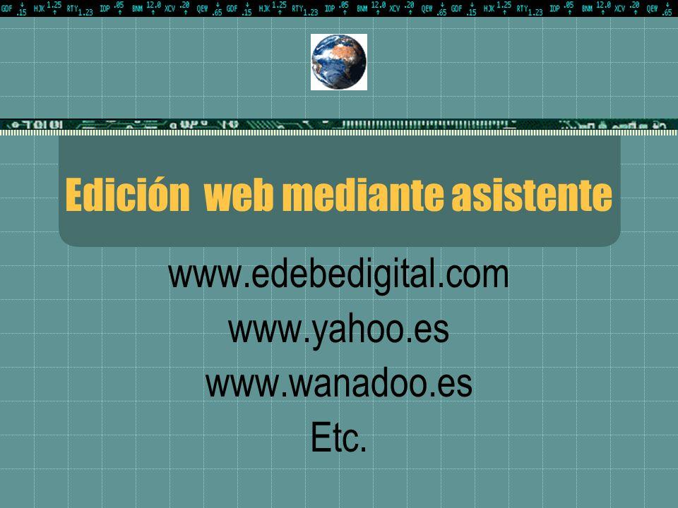 Edición web mediante asistente
