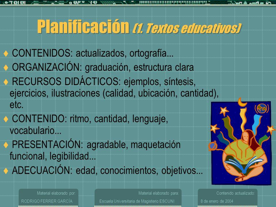 Planificación (1. Textos educativos)